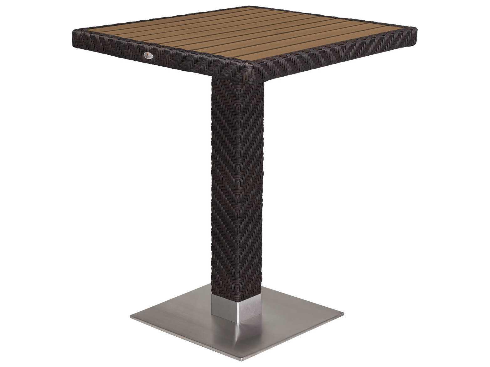Source outdoor furniture arizona wicker 32 square bar for Source outdoor furniture