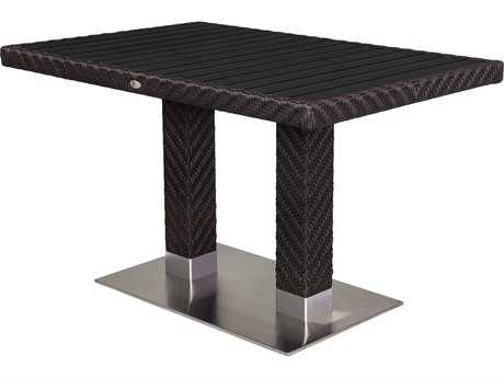 Source Outdoor Furniture Arizona Wicker 48 x 32 Rectangular Dining Table