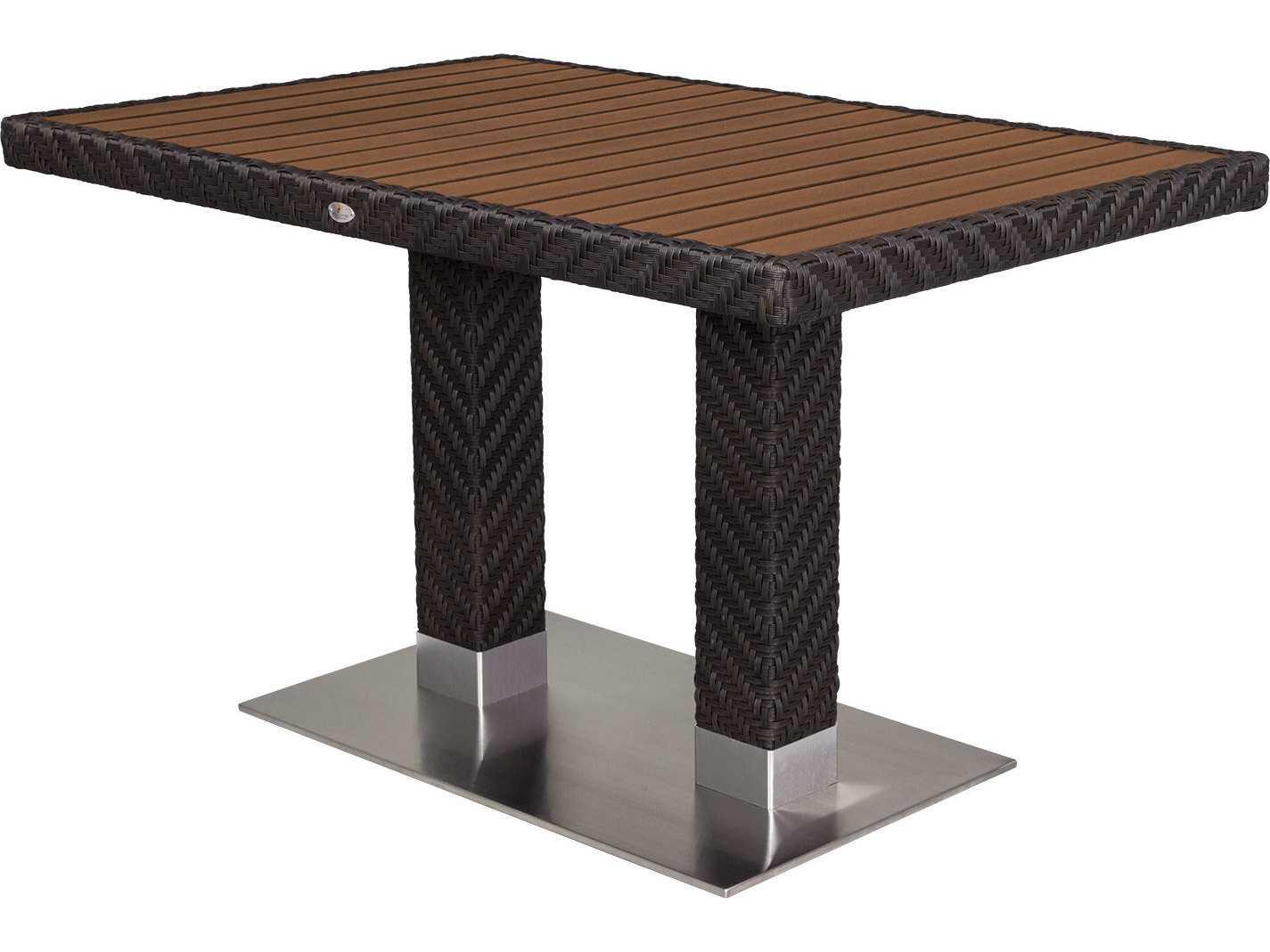 source outdoor furniture arizona wicker 48 x 32 rectangular dining table scsc2206314. Black Bedroom Furniture Sets. Home Design Ideas