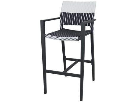 Source Contract Chloe Aluminum Wicker Bar Stool