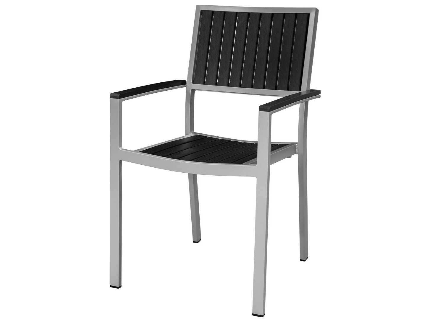 Source Outdoor Furniture Cypress Aluminum Dining Arm Chair