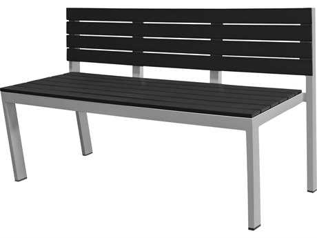 Source Outdoor Furniture Vienna Aluminum Bench Highback - Seats 3