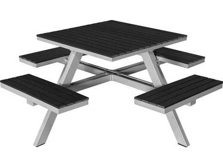 Source Outdoor Furniture Vienna Aluminum 69 Square Picnic Table - Seats 4