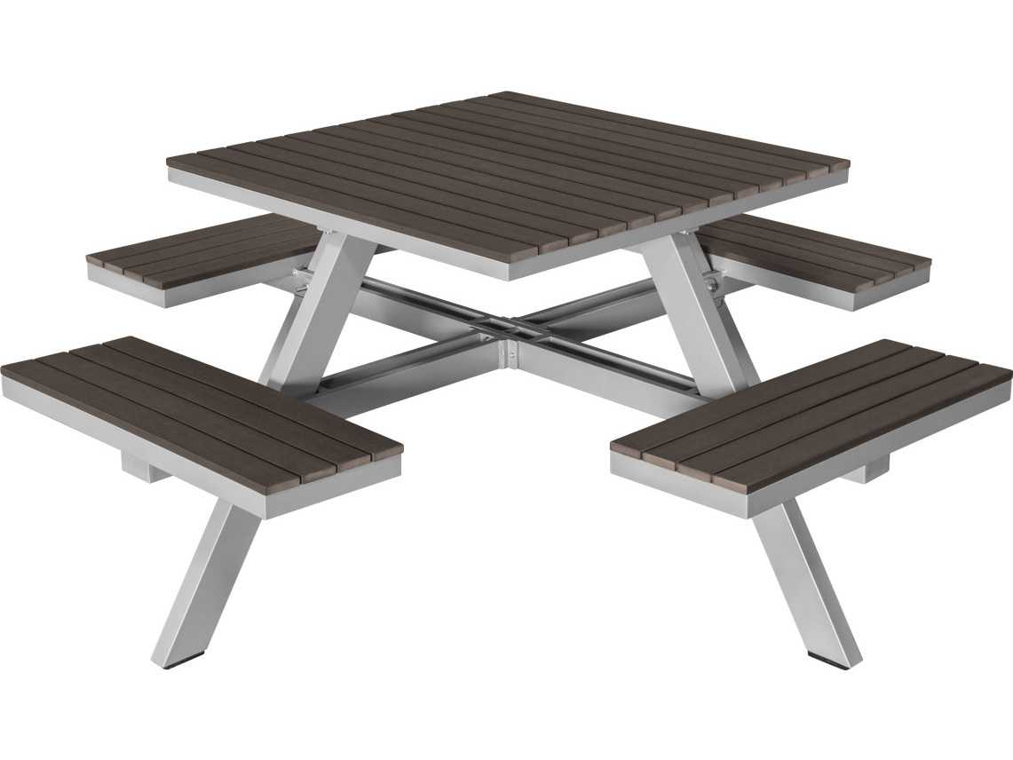 Square Garden Table And 4 Chairs: Source Outdoor Furniture Vienna Aluminum 69 Square Picnic