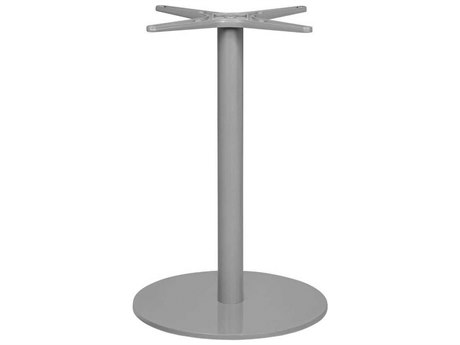 Source Outdoor Furniture Verona Aluminum Kessler Silver Small Round Dining Table Base