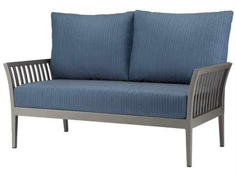 Source Outdoor Furniture Nouveau Aluminum Cushion Loveseat PatioLiving
