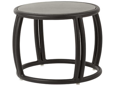 Source Outdoor Furniture Elephant Aluminum Small 20''Wide Round End Table