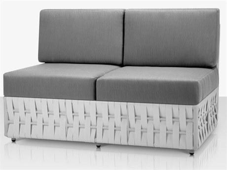 Source Outdoor Furniture Scorpio Aluminum Cushion Loveseat