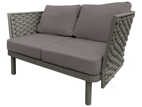 Source Outdoor Furniture Luxe Aluminum Cushion Loveseat