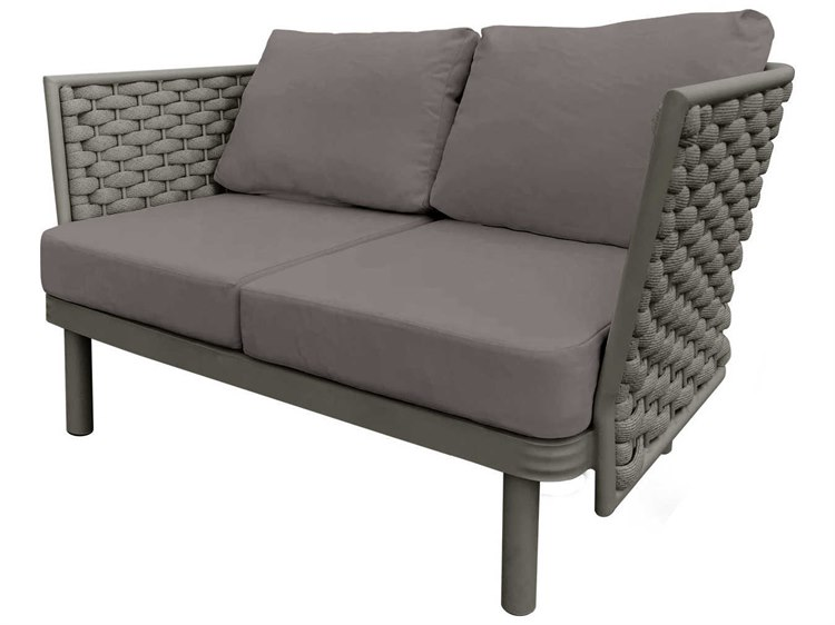 Source Outdoor Furniture Luxe Aluminum Cushion Loveseat PatioLiving