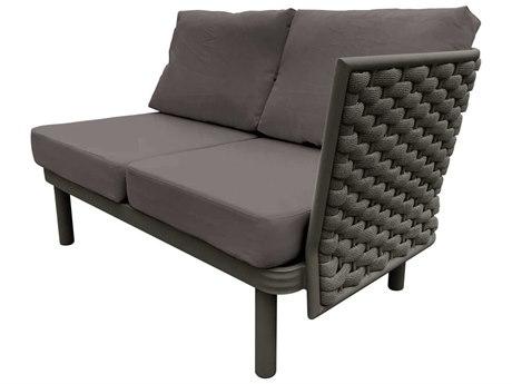 Source Outdoor Furniture Luxe Aluminum Cushion Loveseat