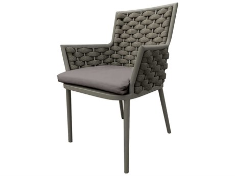 Source Outdoor Furniture Luxe Aluminum Cushion Dining Chair