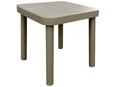 Source Outdoor Furniture Luxe 20'' Wide Aluminum Square End Table