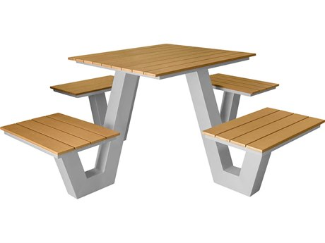 Source Outdoor Furniture Vienna Aluminum 4' Picnic Table