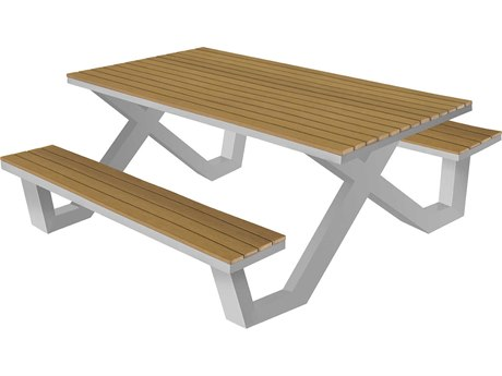 Source Outdoor Furniture Vienna Aluminum 6' Picnic Table
