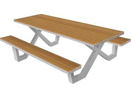 Source Outdoor Furniture Vienna Aluminum 8' Picnic Table