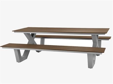 Source Outdoor Furniture Vienna Aluminum 10' Picnic Table