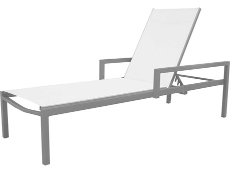 Source Outdoor Furniture Fusion Aluminum Sling Chaise Lounge with Arms
