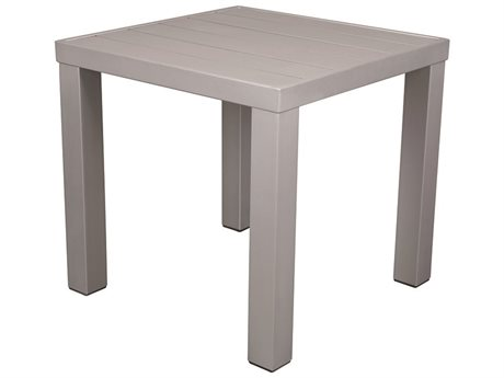 Source Outdoor Furniture Fusion 18'' Wide Aluminum Square End Table