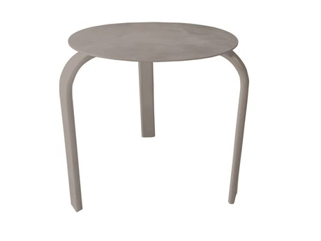 Source Outdoor Furniture Atlantic 20'' Wide Aluminum Round End Table