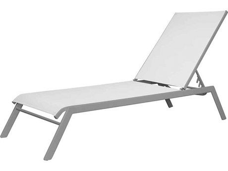 Source Outdoor Furniture Tides Sling Aluminum Stackable Armless Chaise Lounge