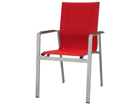 Source Outdoor Furniture Tide Aluminum Sling Dining Arm Chair
