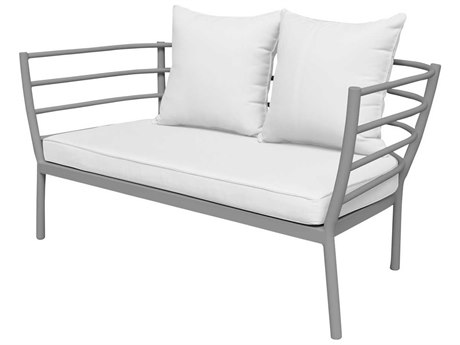 Source Outdoor Furniture Astoria Aluminum Cushion Loveseat PatioLiving
