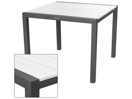 Source Outdoor Furniture Modera Aluminum 37''Wide Square Dining Table