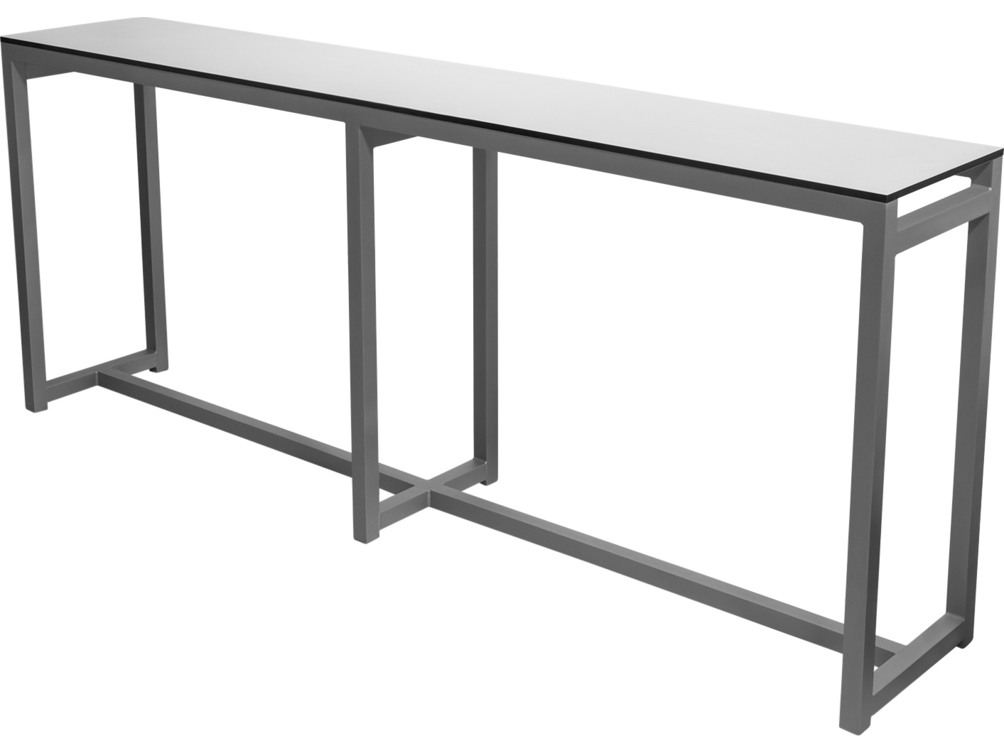 Picture of: Source Outdoor Furniture Modera Aluminum 89 W X 16 D Rectangular Drink Rail Console Table Scsf3203932