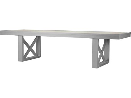 Source Outdoor Furniture Dynasty 120'' Wide Aluminum Hexagon Dining Table