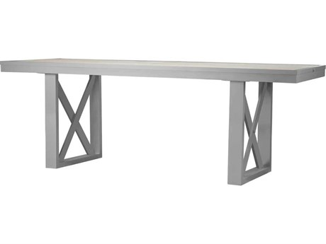 Source Outdoor Furniture Dynasty 120'' Wide Aluminum Rectangular Dining Table