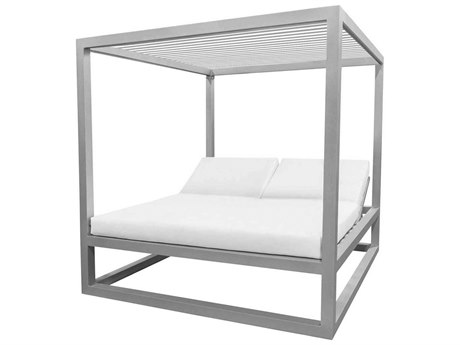 Source Outdoor Furniture Breeze Daybed Optional Aluminum Slats Top PatioLiving