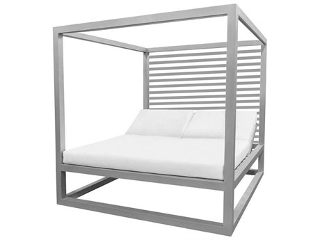 Source Outdoor Furniture Breeze Daybed Optional Aluminum Slats Back PatioLiving
