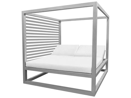 Source Outdoor Furniture Breeze Daybed Optional Aluminum Slats Left Side PatioLiving