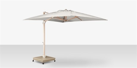 Source Outdoor Furniture The Grand Cantilever Wood Grain 13' Foot Square Umbrella with Sandlewood Base