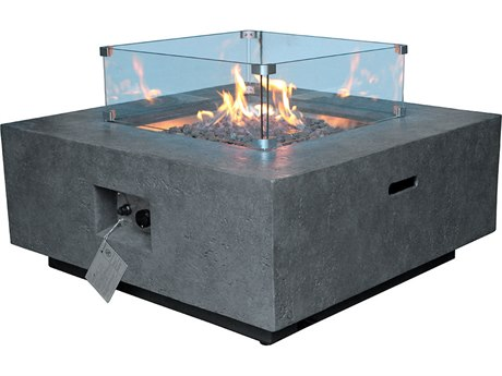 Source Outdoor Furniture Elements 21'' Wide Fire Pit Glass