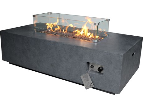 Source Outdoor Furniture Elements 29'' Wide Fire Pit Glass