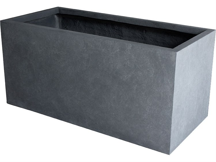 Source Outdoor Furniture Elements Gray Planter