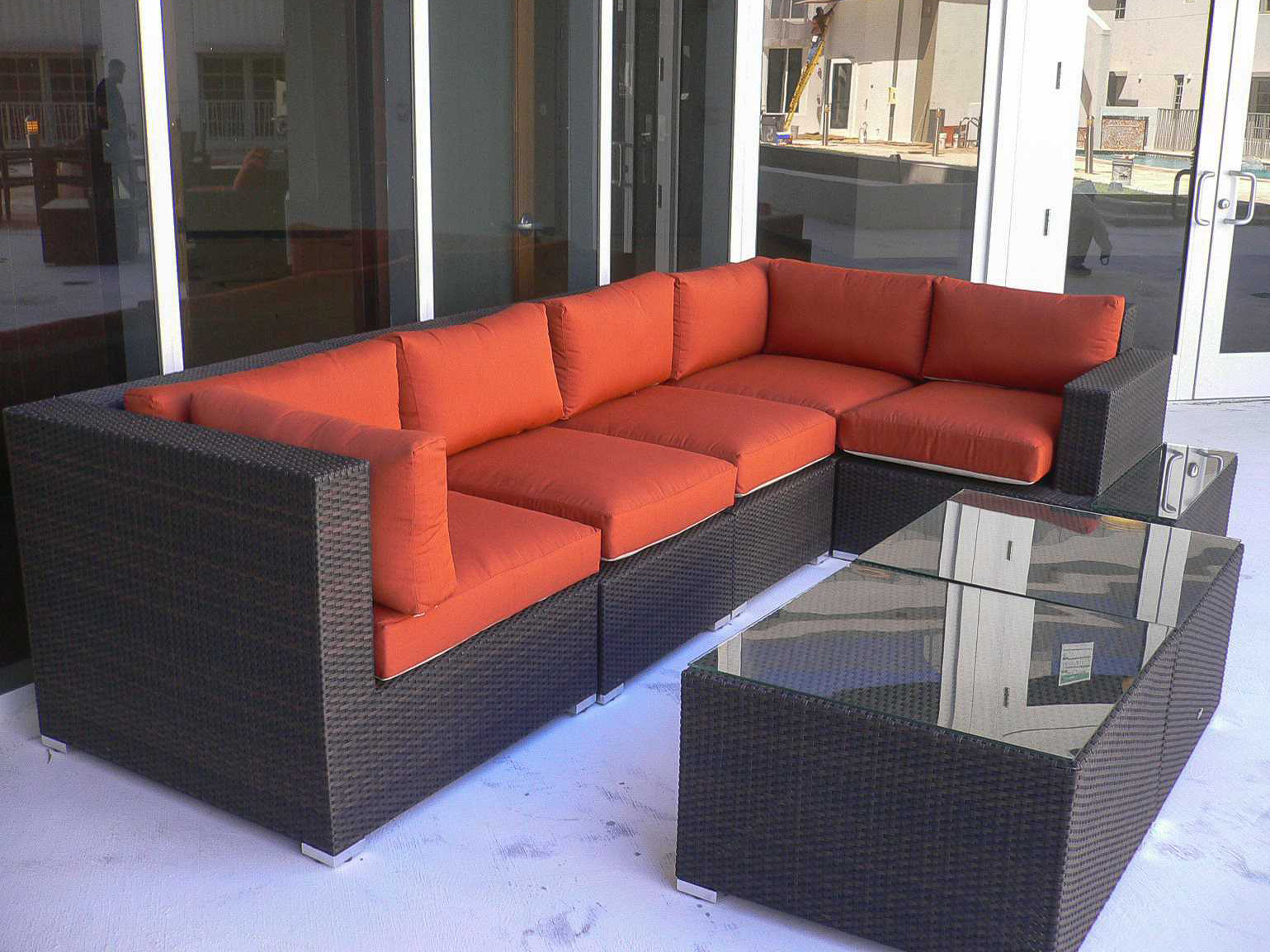 Source Outdoor Furniture Manhattan Wicker Sectional Lounge