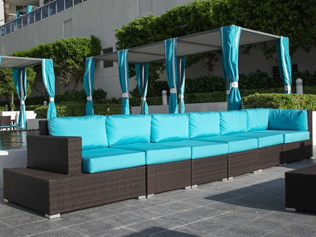 Source Outdoor Furniture Manhattan Wicker Sectional Lounge Set