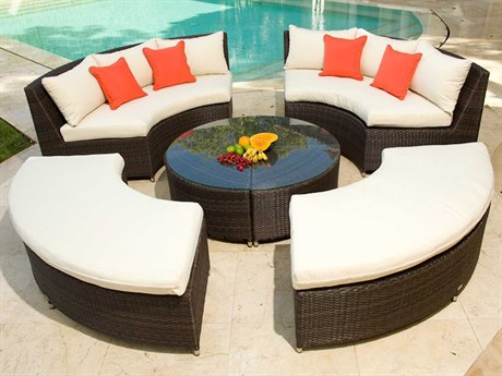 Source Outdoor Furniture Circa Wicker Lounge Set