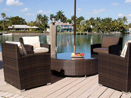 Source Outdoor Furniture St. Tropez Wicker Lounge Set