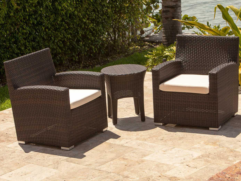Source outdoor furniture st tropez wicker 20 round side for Source outdoor furniture
