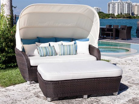 Source Outdoor Furniture St. Tropez Wicker Day Bed Set SCSO06236SET