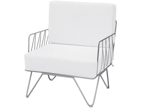 Source Outdoor Furniture Tribeca Steel Cushion Lounge Chair PatioLiving