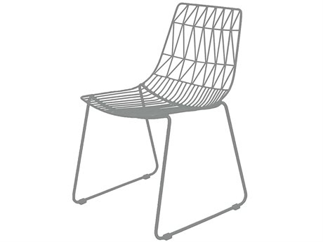 Source Outdoor Furniture Tribeca Steel Dining Side Chair in Style 1 PatioLiving