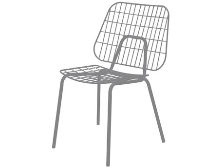 Source Outdoor Furniture Tribeca Steel Dining Side Chair in Style 2 PatioLiving