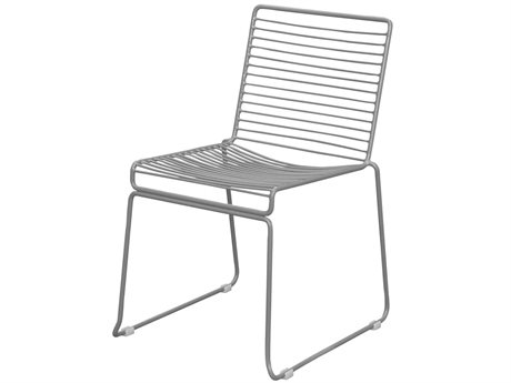 Source Outdoor Furniture Tribeca Steel Stackable Dining Side Chair in Style 3 PatioLiving
