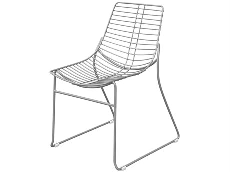 Source Outdoor Furniture Tribeca Steel Stackable Dining Side Chair in Style 4 PatioLiving