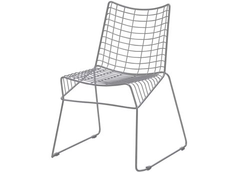 Source Outdoor Furniture Tribeca Steel Stackable Dining Side Chair in Style 5 PatioLiving